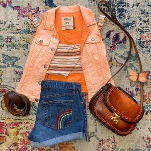 Gap Jeans Rainbow Pocket Shorts
